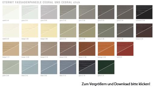 Eternit Fassade Farbkarte Cedral_2015